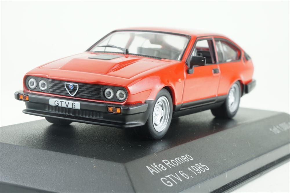 ホワイトボックス 1/43 アルファ・ロメオ GTV 6 1985 レッド 完成品ミニカー WB154