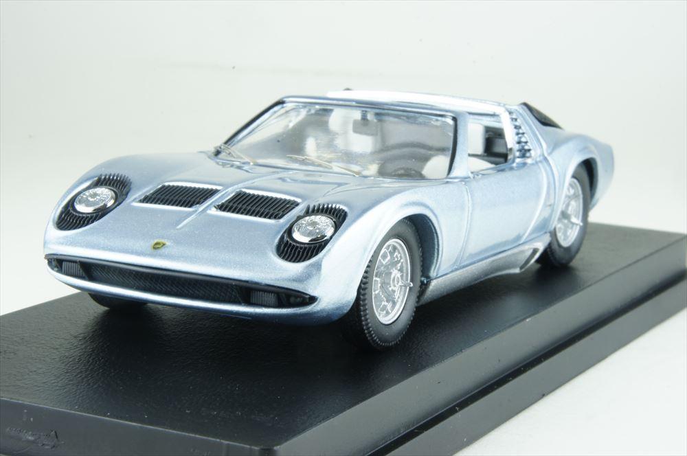 リオ 1/43 ランボルギーニ ミウラ ロードスター ベルトーネ 1968 ブリッセルモーターショー 完成品ミニカー RIO4579