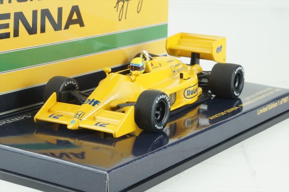 ミニチャンプス 1/43 ロータス ホンダ 99T F1 1987 モナコGP ウイナー 1987 A.セナ 完成品ミニカー 540874392