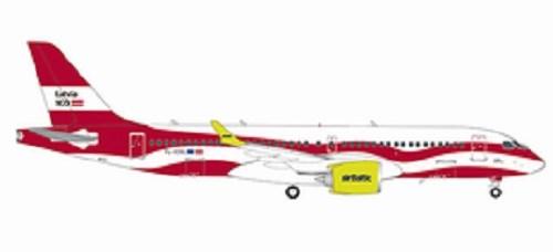 【予約】 ヘルパウイングス 1/200 A220-300 エアバルティック YL-CSL ラトビア建国100周年塗装機 完成品 艦船・飛行機 HE559690