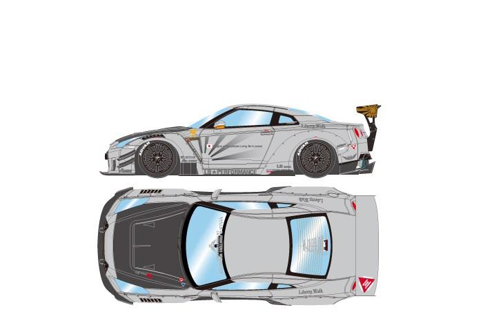 アイドロン 1/43 LB-WORKS GT-R タイプ 2 2017 マットグレー 完成品ミニカー LB006G
