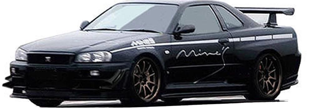 イグニッションモデル 1/43 ニッサン スカイライン GT-R マインズ R34 ブラック 完成品ミニカー IG1815
