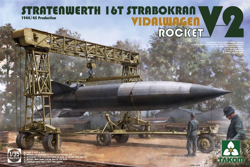 タコム 1/35 シュトラーテンヴェルト社 16t ガントリークレーンw/フィダルワーゲン &V2ロケット 1944/45年生産 スケールプラモデル TKO2123