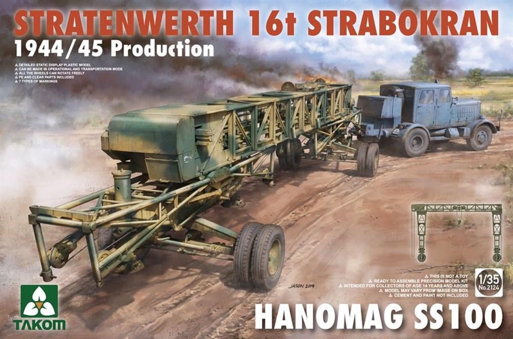 タコム 1/35 シュトラーテンヴェルト社 16t ガントリークレーンw/ハノマーグSS100 トラクター 1944/45年生産 スケールプラモデル TKO2124