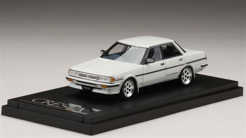 MARK43 1/43 トヨタ クレスタ GT ツインターボ GX71 カスタムバージョン スーパーホワイトII 完成品ミニカー PM43109SW