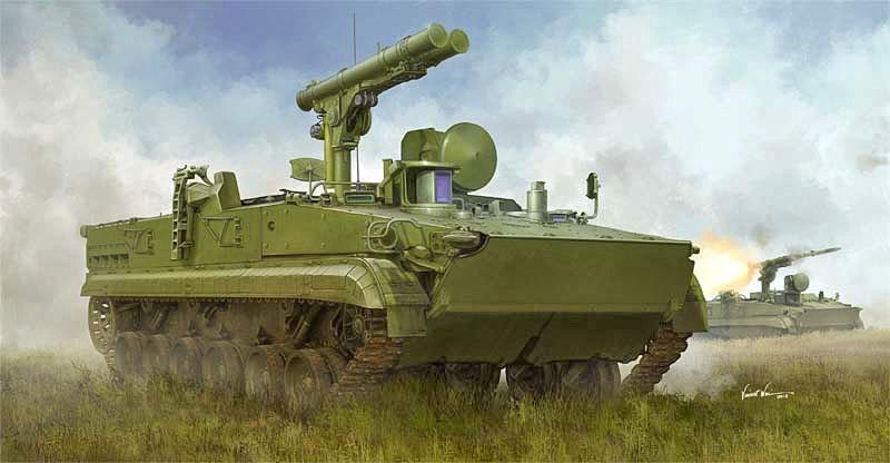 トランぺッター 1/35 ロシア連邦軍 9P157-2 対戦車駆逐戦闘車 スケールプラモデル 09551