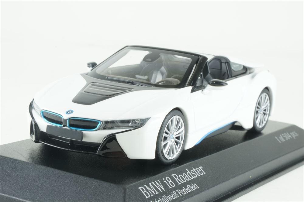 ミニチャンプス 1/43 BMW I8 ロードスター I15 2017 ホワイトメタリック 完成品ミニカー 410027031