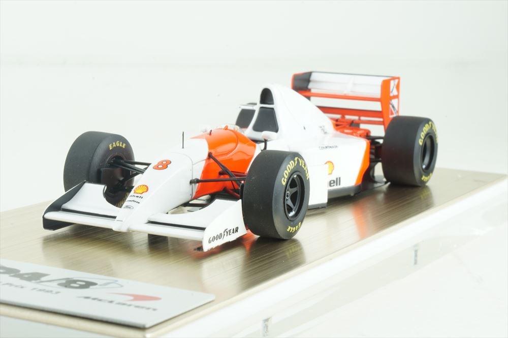 アイドロン 1/43 マクラーレン フォードMP4/8 No.8 F1 1993 モナコGP A.セナ 完成品ミニカー FE034A