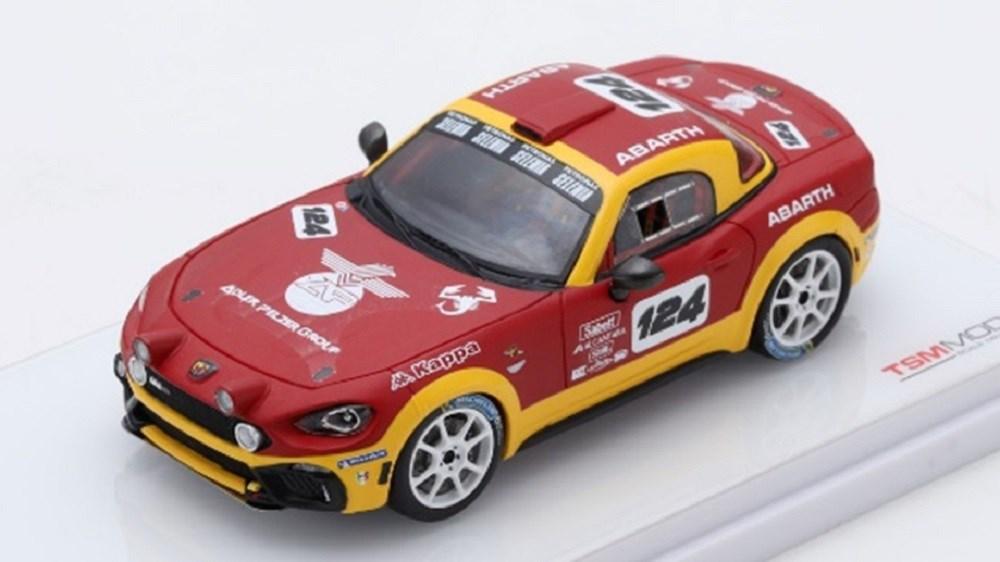【予約】 トゥルースケール 1/43 アバルト 124 スパイダー ラリーコンセプト 完成品ミニカー TSM430132