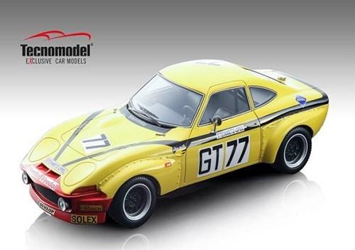 【予約】 テクノモデル 1/18 オペル GT1900 No.77 1972 ニュルブルクリンク1000km W.クリストマン/J.ラニョッティ 完成品ミニカー TM18-133D