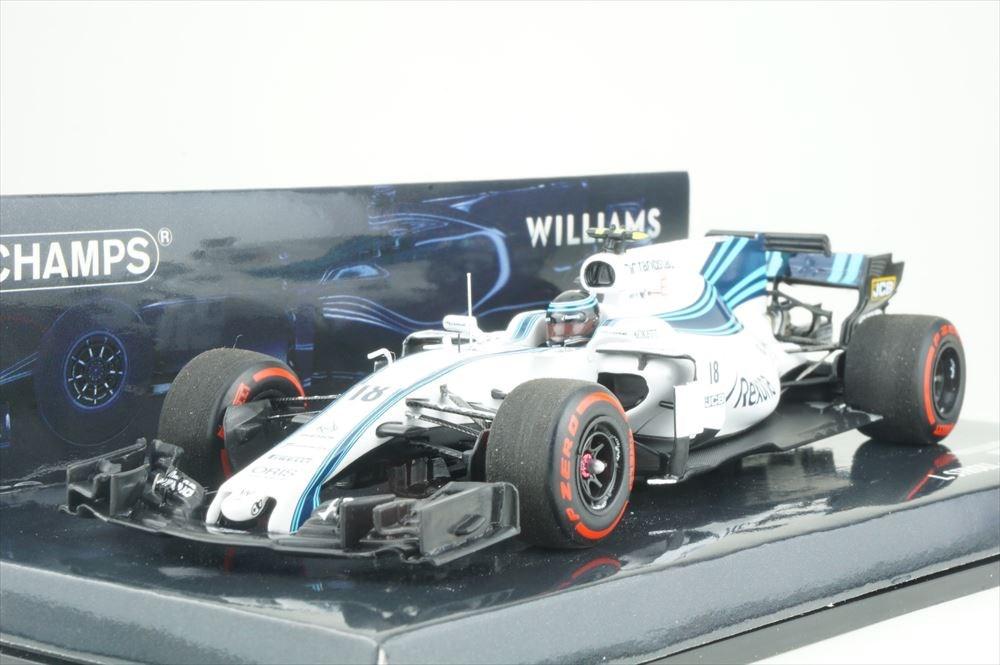 ミニチャンプス 1/43 ウィリアムズ マルティニ メルセデス FW40 No.18 2017 F1 アブダビGP L.ストロール 完成品ミニカー 417172018