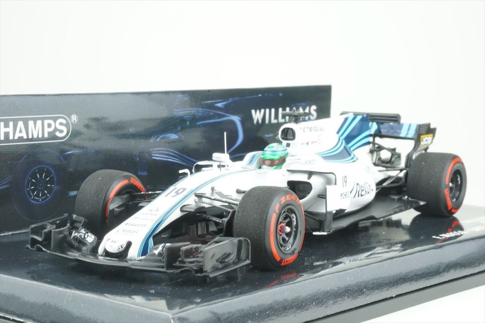 ミニチャンプス 1/43 ウィリアムズ マルティニ メルセデス FW40 No.19 2017 F1 アブダビGP F.マッサ 完成品ミニカー 417172019