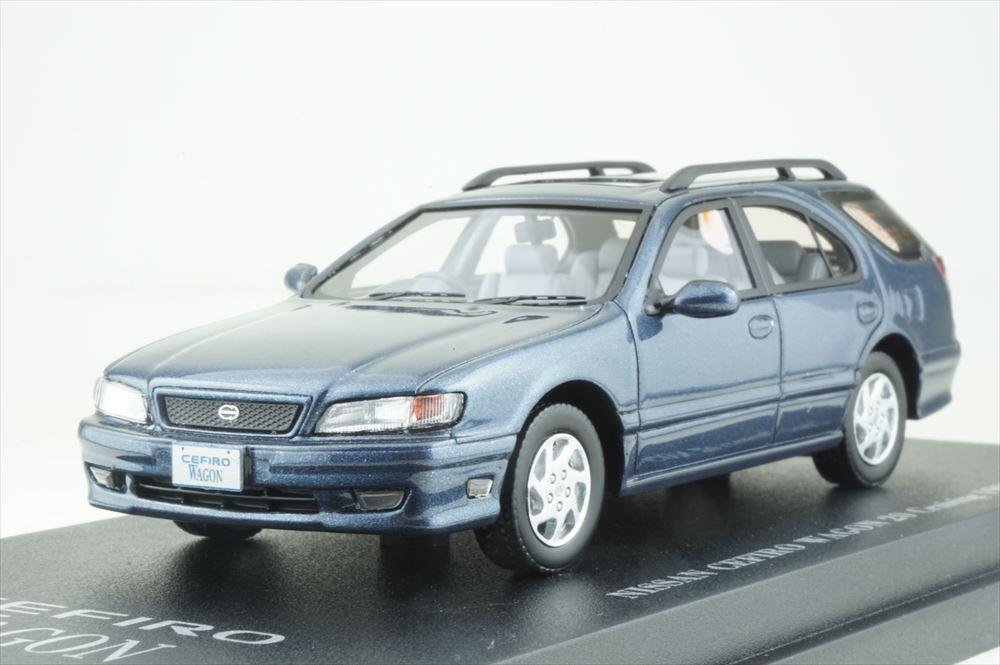 Cam@ 1/43 日産 セフィーロ ワゴン (WA32) 1997 ダークブルーメタリック 完成品ミニカー C43079