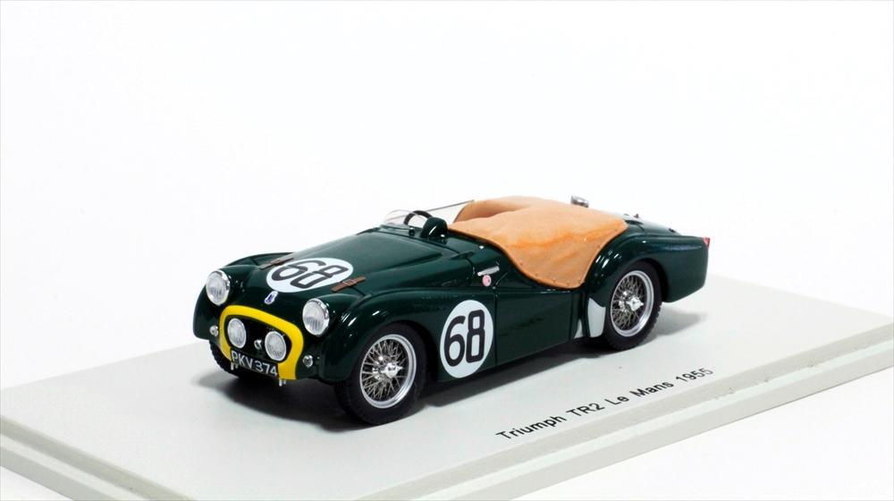 物品 土日出荷可能 完成品ミニカー スパーク 1 43 トライアンフ TR2 No.68 L.ブルック グドール 1955 マン24時間 M.モリス S1394 ル 19位 贈答