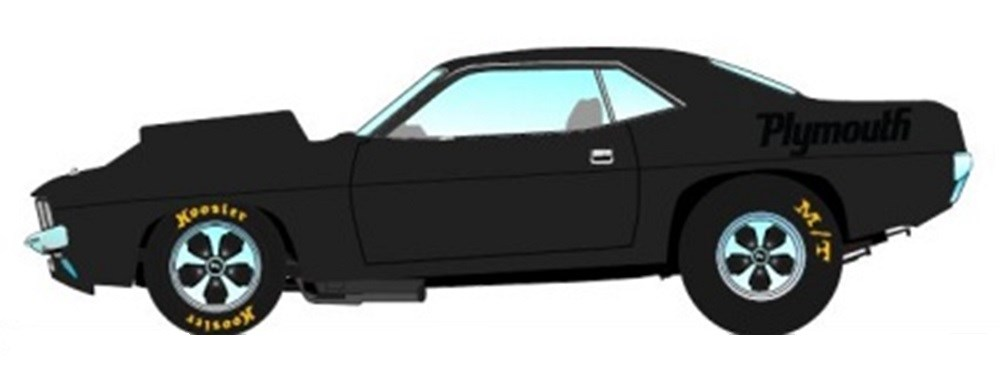 【予約】 A.C.M.E 1/18 プリムス Drag Cuda 1971 グロスブラック 完成品ミニカー A1806110