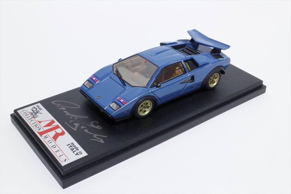 ポストホビーMR 1/43 ランボルギーニ カウンタック LP400 S ウォルターウルフ/ブルー 完成品ミニカー P036