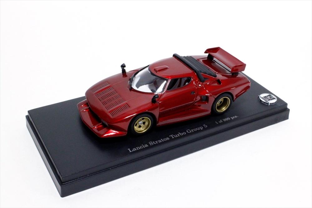 ポストホビー 1/43 ランチア ストラトス ターボ Gr.5 メタリックレッド 完成品ミニカー PS006
