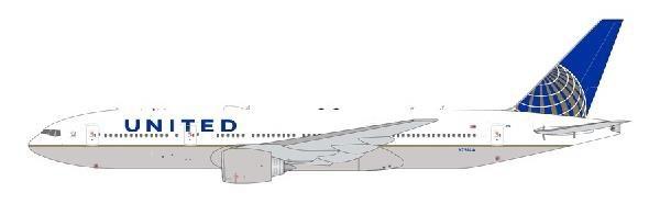 ジェミニジェット 1/400 ユナイテッド航空 777-200ER N796UA 完成品 艦船・飛行機 GJUAL1806