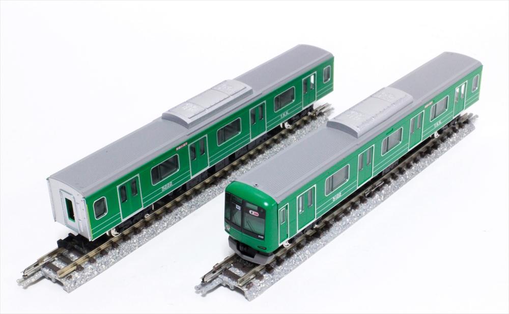 グリーンマックス Nゲージ完成品 東急5000系(5122編成・青ガエルラッピング)8両編成セット(動力付き) 鉄道模型 50594