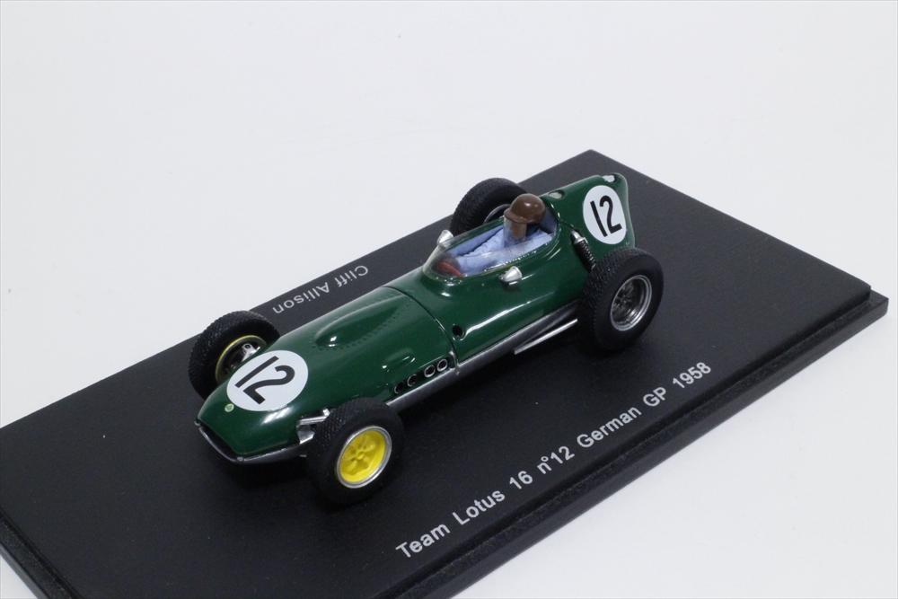 スパーク 1/43 ロータス 16 No.12 1958 F1 ドイツGP C.アリソン 完成品ミニカー S1836