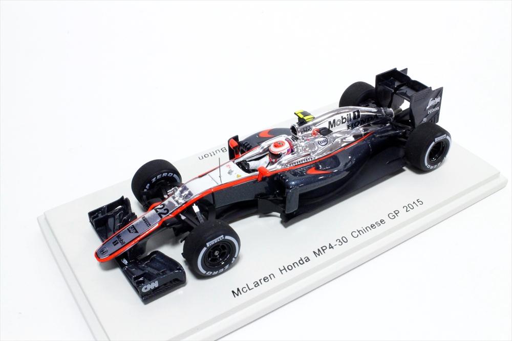 スパーク 1/43 マクラーレン ホンダ MP4-30 No.22 2015 F1 中国GP J.バトン 完成品ミニカー S4614