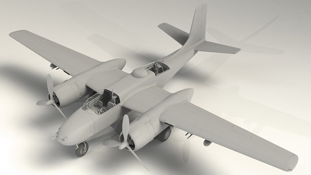 ICM 1/48 A-26B-15 インベ-ダー スケールプラモデル 48282
