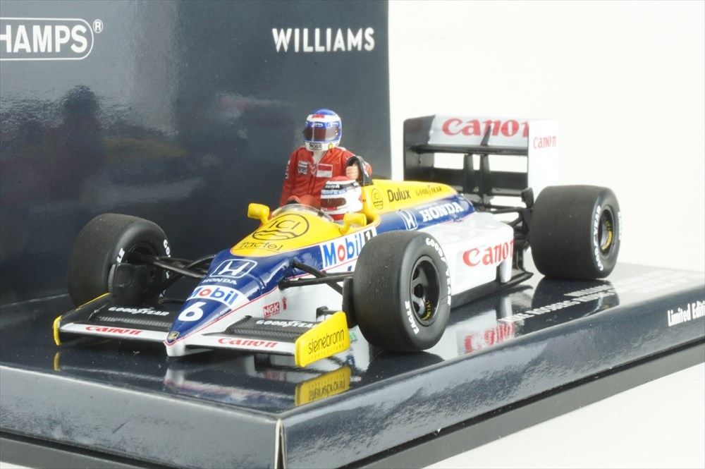 ミニチャンプス 1/43 ウィリアムズホンダ FW11 No.6 1986 F1 ドイツGP K.ロズベルグ N.ピケ付属 完成品ミニカー 410860106