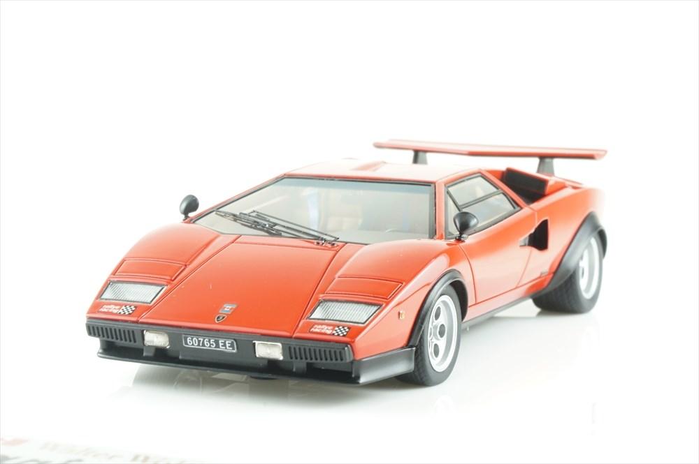 アイドロン 1/43 ランボルギーニ ウルフ・カウンタック LP400/500S Ch.1120148 1975 リマスター レッド ラリーステッカー有 完成品ミニカー EM439B