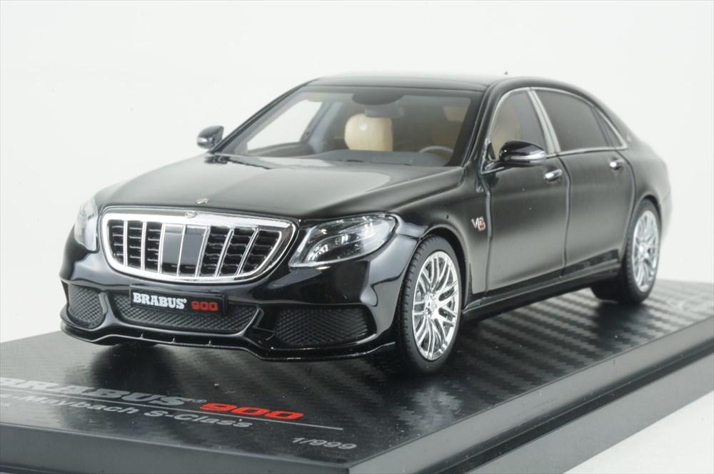オールモストリアル 1/43 ブラバス 900 メルセデス マイバッハ Sクラス ブラック 完成品ミニカー AL460102