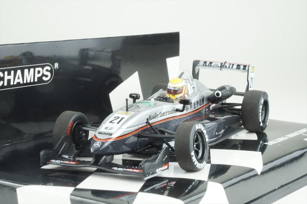 ミニチャンプス 1/43 ダラーラ メルセデス F302 No.21 2004 マカオGP L.ハミルトン 完成品ミニカー 410040321