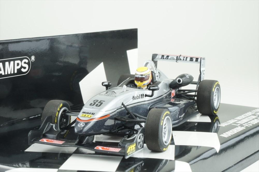 ミニチャンプス 1/43 ダラーラ メルセデス F302 No.35 2004 F3 ユーロシリーズ ノリスリンク ウィナー L.ハミルトン 完成品ミニカー 410040335