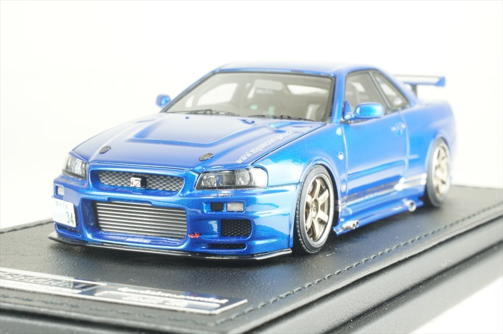 イグニッションモデル 1/43 トップシークレット GT-R (BNR34) ブルー 完成品ミニカー IG1478