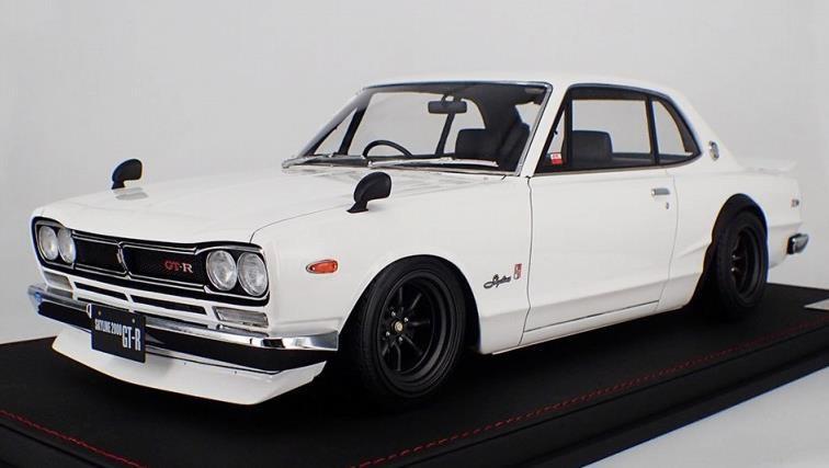 イグニッションモデル 1/12 ニッサン スカイライン 2000 GT-R KPGC10 ホワイト 宮沢模型流通限定 完成品ミニカー IG1936