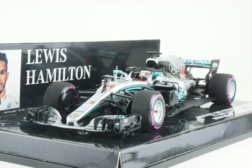 ミニチャンプス 1/43 メルセデス AMG ペトロナス No.44 F1チーム 2018 F1 メキシコGP ワールドチャンピオン L.ハミルトン 完成品ミニカー 417181944