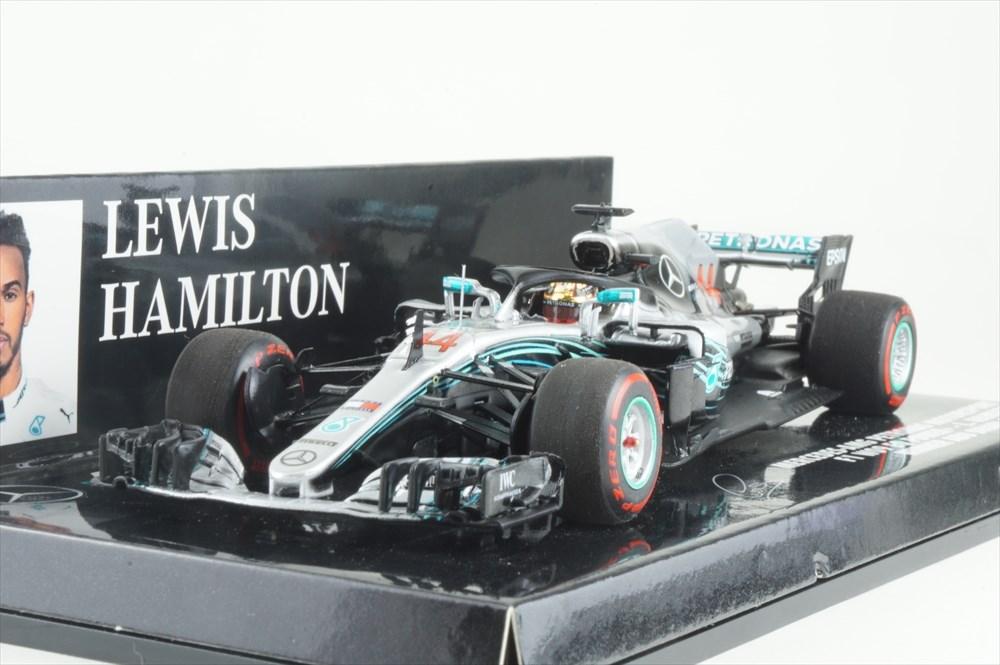 ミニチャンプス 1/43 メルセデス AMG ペトロナス No.44 F1チーム 2018 F1 アブダビGP ウィナー L.ハミルトン 完成品ミニカー 417182144