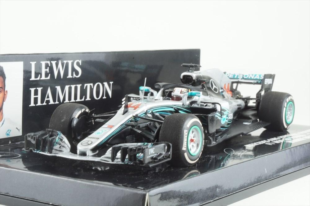 ミニチャンプス 1/43 メルセデス AMG ペトロナス No.44 F1チーム 2018 F1 ブラジルGP ウィナー L.ハミルトン 完成品ミニカー 417182044