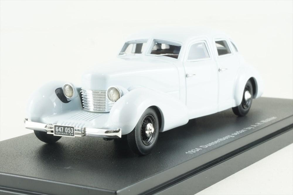 エスバルモデル 1/43 デューセンバーグ セダン 1934 A-H.ウォーカー オープンライト グレー 完成品ミニカー EMEU43081A
