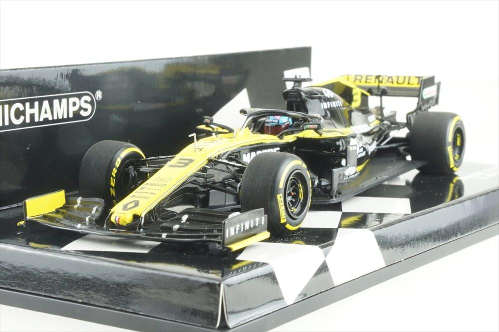 ミニチャンプス 1/43 R.S.19 ルノースポーツ F1チーム 2019 D.リチャルド 完成品ミニカー 417190003