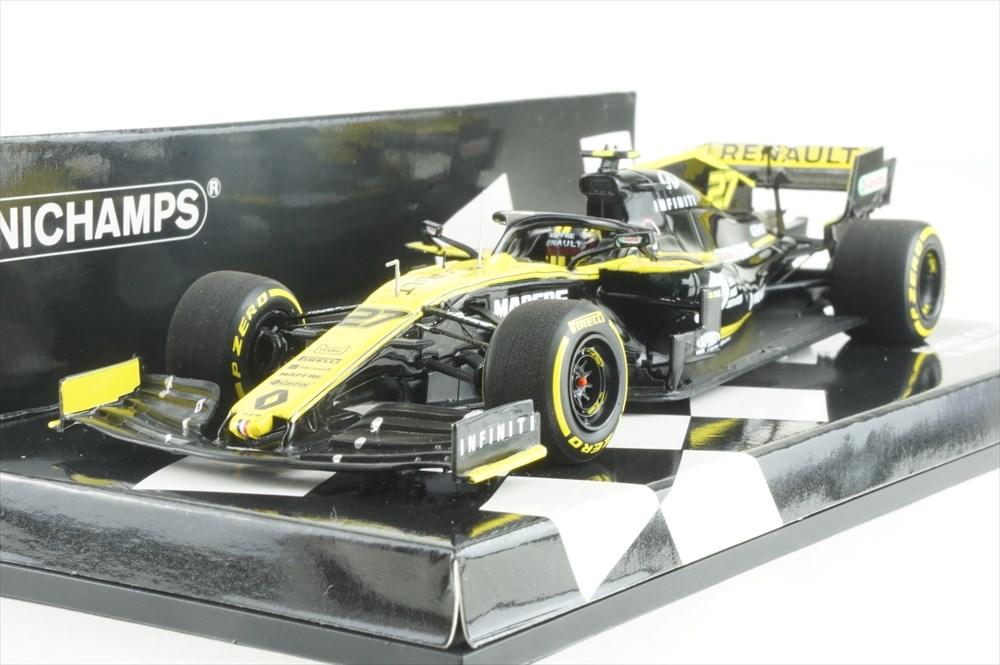 ミニチャンプス 1/43 R.S.19 ルノースポーツ F1チーム 2019 N.ヒュルケンベルグ 完成品ミニカー 417190027