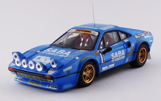 ベストモデル 1/43 フェラーリ 308 GTB No.1 1983 ミッレミリア・ラリー ウィナー Busseni/チョッカ 完成品ミニカー BEST9630/2