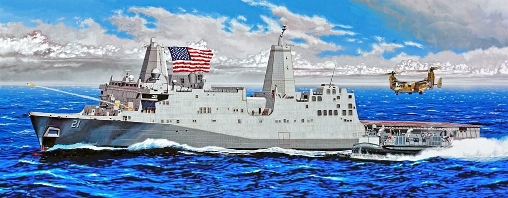 トランペッター 1/350 アメリカ海軍 ドック型揚陸艦 USS ニューヨーク LPD-2 スケールモデル 05616