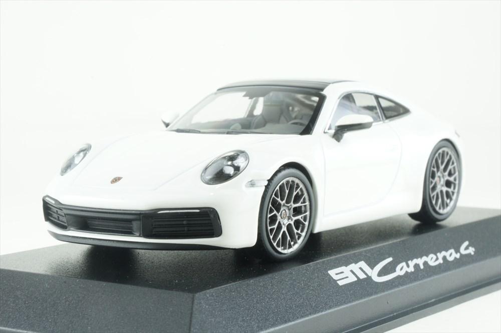 ディーラー別注 1/43 ポルシェ 911 カレラ 4 クーペ カラーラホワイトメタリック 完成品ミニカー WAP0201760K