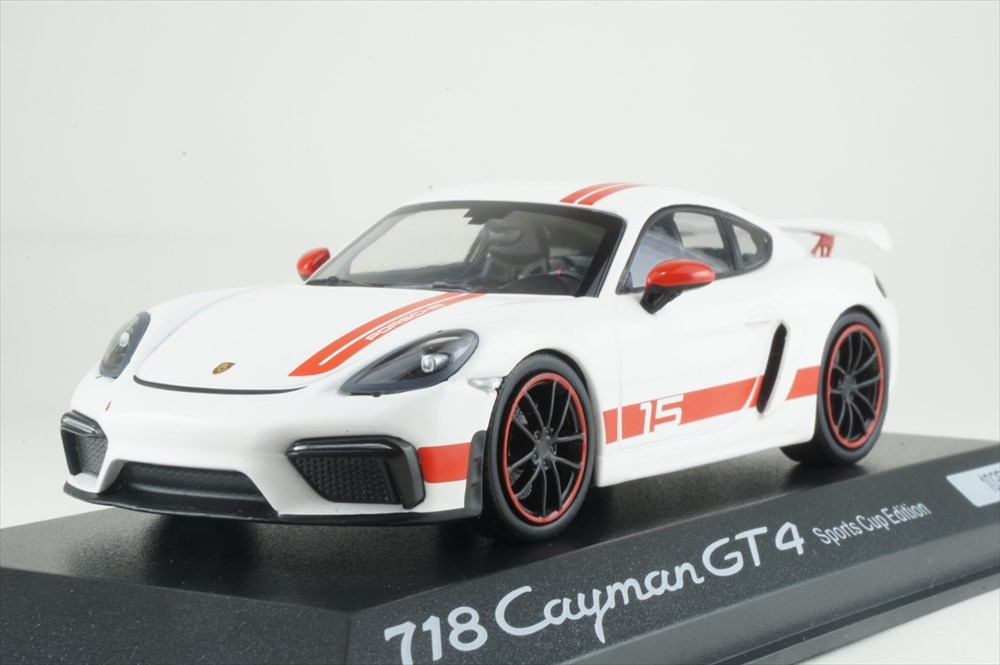 ディーラー別注 1/43 ポルシェ 718 ケイマン GT4 スポーツカップエディション 完成品ミニカー WAP0204140LEXC