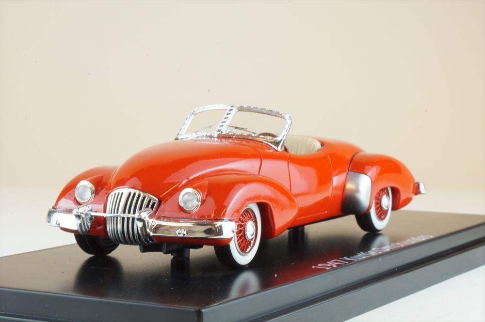 エスバルモデル 1/43 Kurtis Omohundro 1947 レッド 完成品ミニカー EMUS43026A