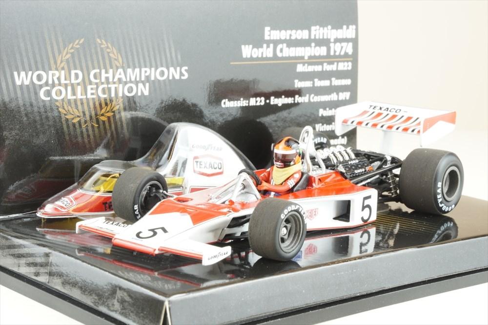 ミニチャンプス 1/43 マクラーレン フォード M23 No.5 1974 F1 ワールドチャンピオン E.フィッティパルディ 完成品ミニカー 436740005