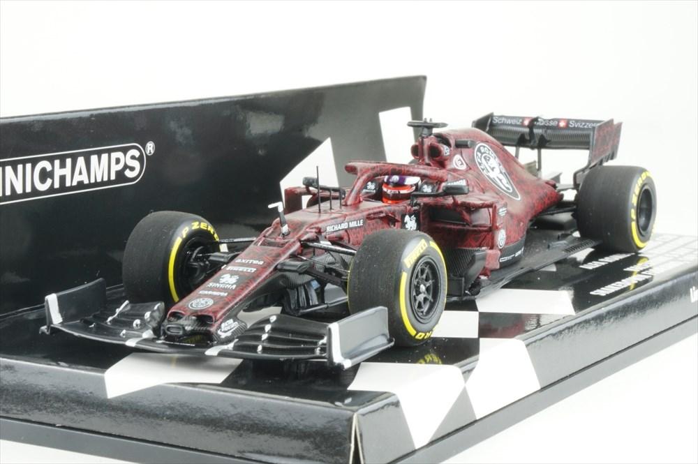 ミニチャンプス 1/43 アルファロメオ レーシング ザウバー フェラーリ C38 2019 F1 バレンタインテスト K.ライコネン 完成品ミニカー 417199007