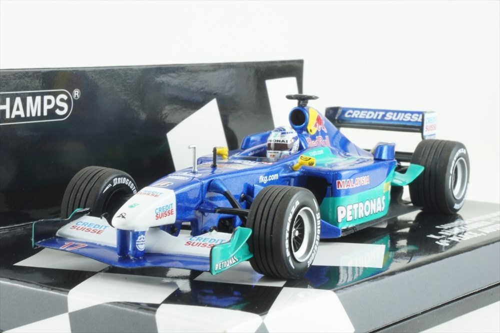 ミニチャンプス 1/43 レッドブル ザウバー ペトロナス C20 2001 F1 K.ライコネン 完成品ミニカー 410010117