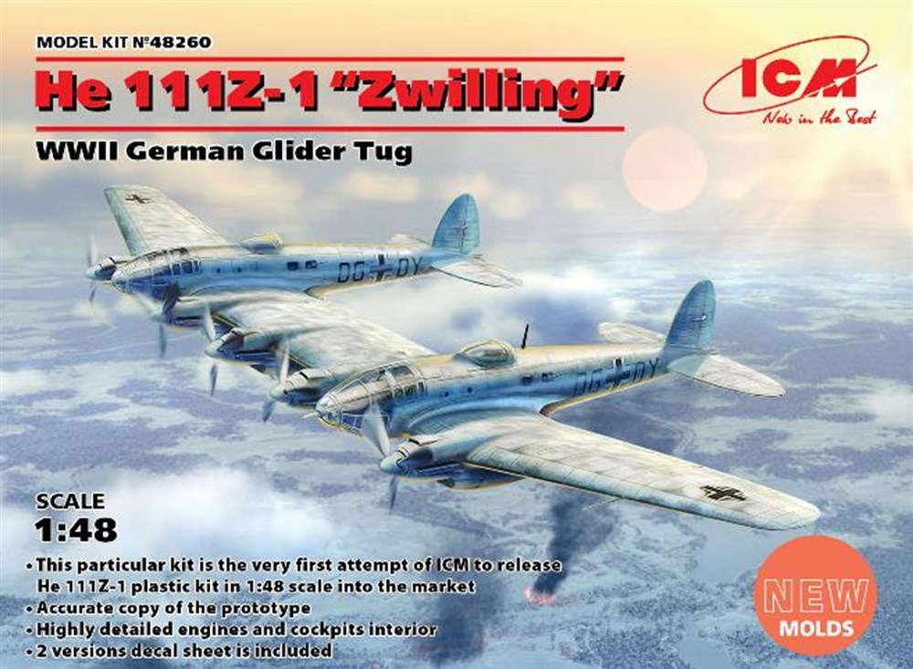 ICM 1/48 ハインケル He111Z-1 ツヴィーリンク スケールモデル 48260