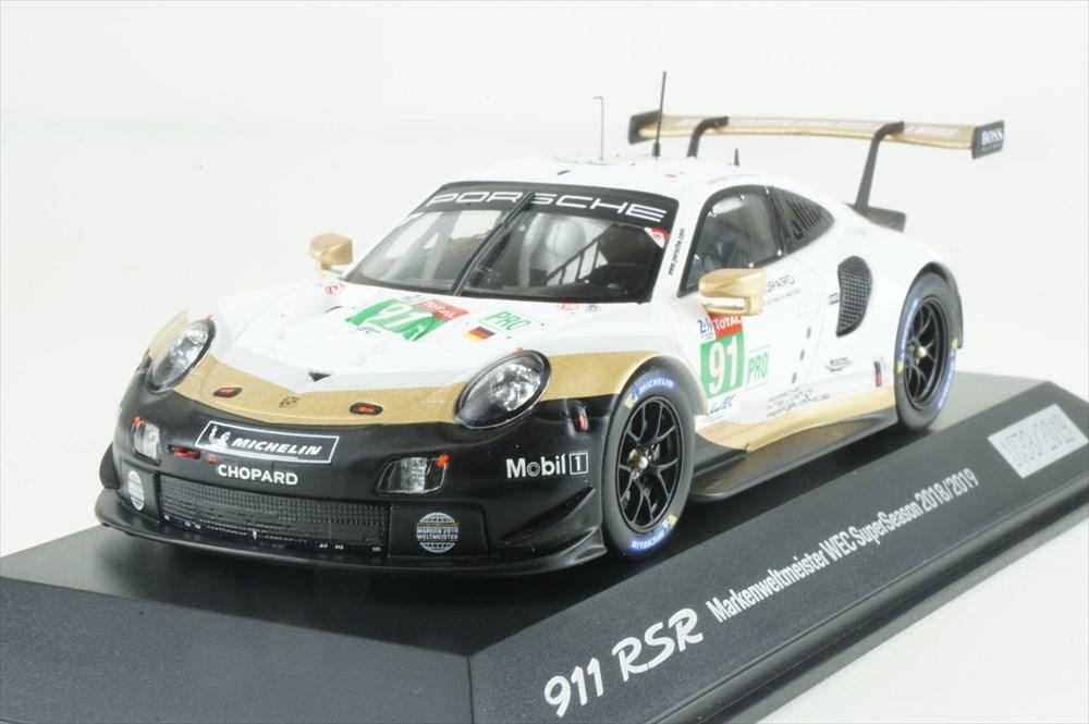 ディーラー別注 1/43 ポルシェ 911 RSR 2019 完成品ミニカー WAP0201480LRSR