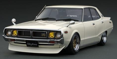 【予約】 イグニッションモデル 1/18 ニッサン スカイライン 2000 GT-X GC110 ホワイト 完成品ミニカー IG1979